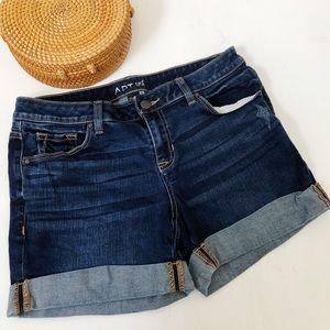 Apt 9 Modern Rolled Hem Denim Shorts